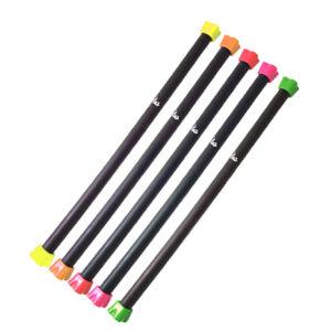 میله بادی پامپ POWERGYM- از جنس فولاد- قابل جدا شدن و به صورت پیچی- به صورت 7 وزنِ یک تا هفت کیلوگرم- دارای رنگ بندی- محصول چین می باشد.